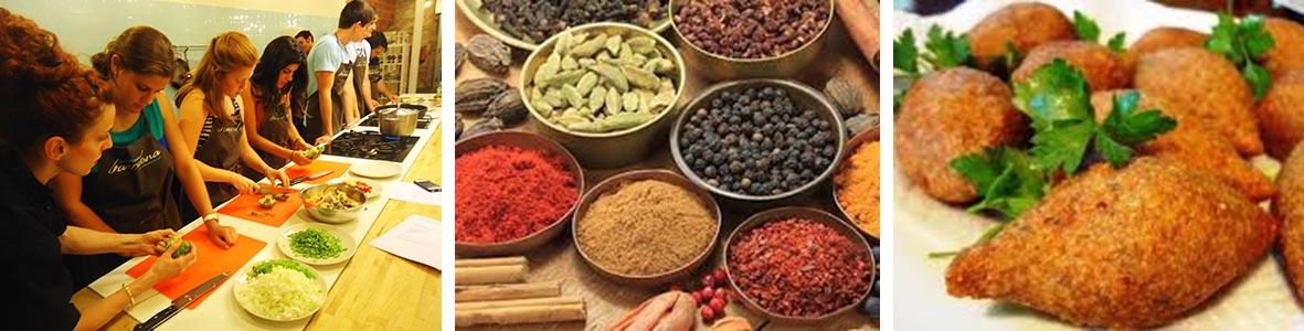 Libanesisk matlagning med företaget